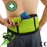 Ice/Heat Lumbar Support Belt by 4Dflexisport