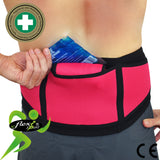 Lumbar Belt MODERATE Support (NO STAYS ) incl. ICE/HEAT PK by 4DflexiSPORT®