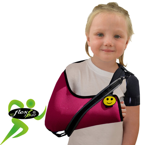 Arm Sling CHILD Raspberry Deluxe ANTI NECKACHE by 4DflexiSPORT®