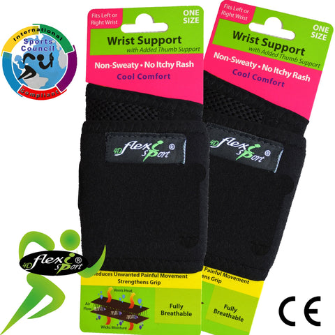 Wraparound Wrist Strengthener/Thumb Base Support by 4DflexiSPORT®BUY this 2pk & SAVE