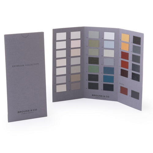 Hand Painted Linseed Paint Colour Card Exterior Range