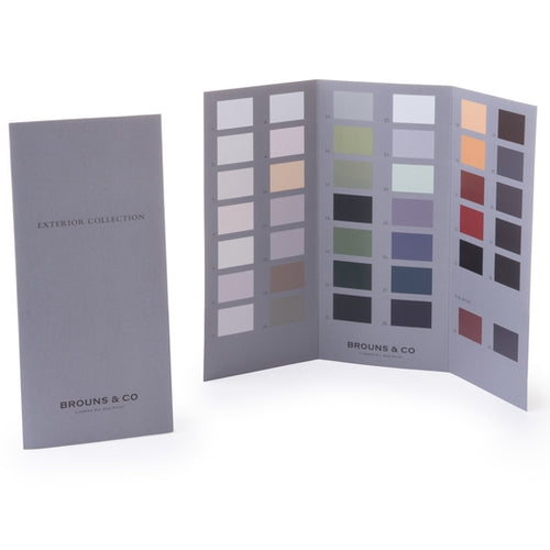 Printed Linseed Paint Colour Card Exterior Range
