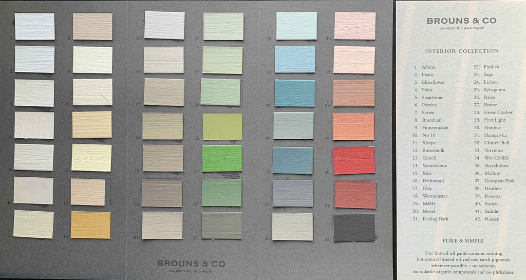 Photograph of the Hand-Painted colour card