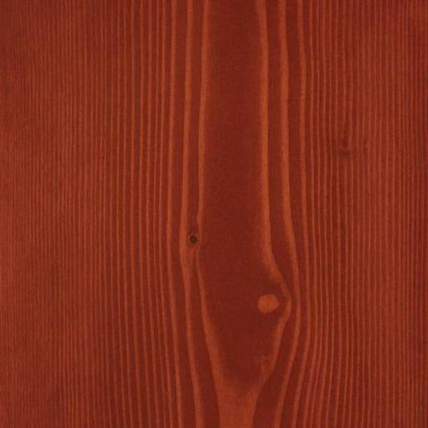Satin Wood Oil Italian red on Douglas Fir