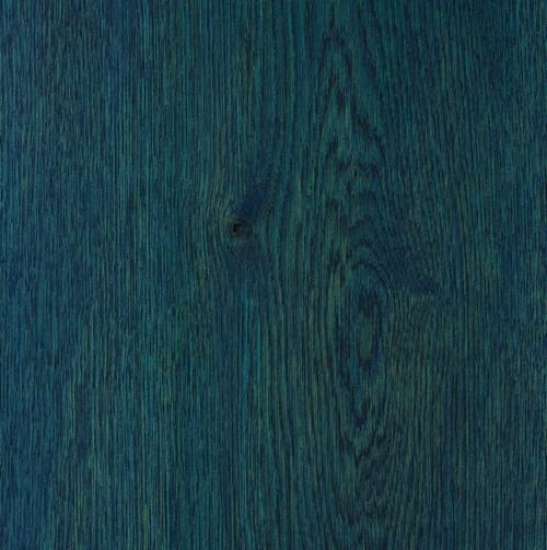 Satin Wood Oil Bright Paris Blue on Oak