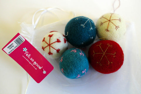 Soft felt Christmas Baubles