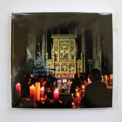 Cathedral Nativity Scene Christmas cards