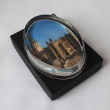 Oval Glass Wakefield Cathedral Paperweight
