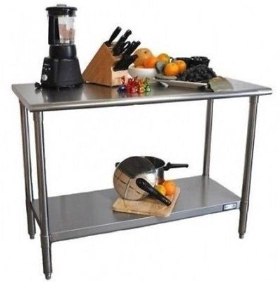 Kitchen Stainless Steel Food Prep Table Island Workbench Counter Restaurant New - ShopMonkeez  - 1