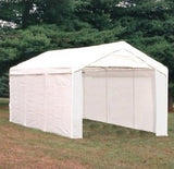 Canopy Door Kit Roll Up Shelter Enclosure Sidewall 10 X 20 Party Tent Carport - ShopMonkeez  - 2