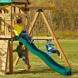 Slide For Swingset Playground Swing Outdoor Kids Backyard Playset Fort Gym - ShopMonkeez  - 4
