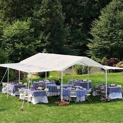 Event Canopy Tent Pavilion Carport Shelter Workstation Cater Party 20 x 10 New - ShopMonkeez  - 1