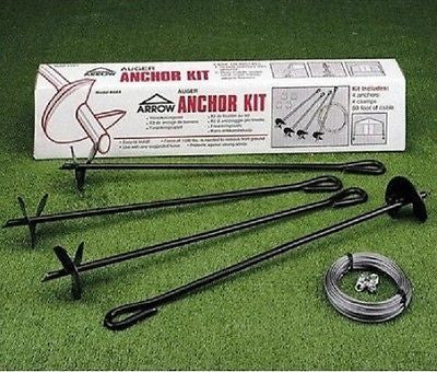 Anchor Kit For Garden Tool Equipment Shed Metal Building Secure Wind Tie Down - ShopMonkeez  - 1