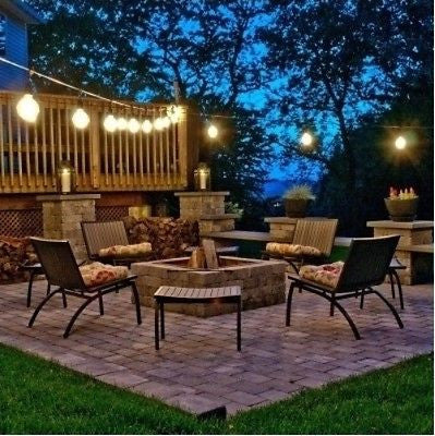 Outdoor String Lights Gazebos Porches Restaurant Bar Events Parties 48 Ft. New - ShopMonkeez  - 1