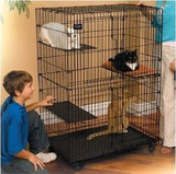 Cat Kitten Playpen Crate Cage Kennel Home Sanctuary Portable Foldable Steel New - ShopMonkeez  - 1