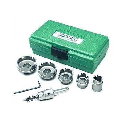 Stainless Steel Hole Saw Cutter Kit, 7 Piece Carbide Teeth Greenlee 660 New - ShopMonkeez  - 1