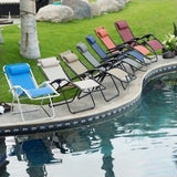 Reclining Lounge Chair Patio Pool Beach Yard Recliner Chaise Lounger Fast Drying - ShopMonkeez  - 1
