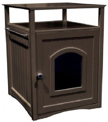 Cat Condo Dog Bed Litter Box Night Stand Decorative Bathroom Furniture Pet House - ShopMonkeez  - 4