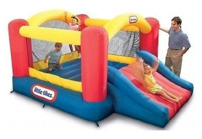 Bounce House Inflatable Bouncer Slide Jumper Commercial Blower Moonwalk Bouncy - ShopMonkeez  - 1