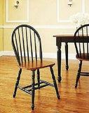 Dining Room Kitchen Windsor Chair Set Of 2 White Natural Table Seating Nook New - ShopMonkeez  - 4