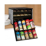 Spice Herb Organizer For Kitchen Cabinet Rack Holds 30 Full Size Bottles New - ShopMonkeez  - 1