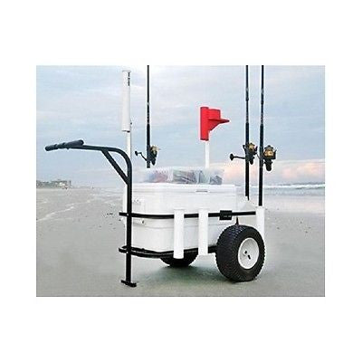 Beach Pier Surf Fishing Rod Cart Cooler Holder Fisherman Angler Equipment Hauler - ShopMonkeez  - 1