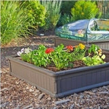 Raised Garden Planter Vegetable Flower Bed Kit Square Foot Gardening Plastic New - ShopMonkeez  - 1