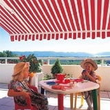 Retractable Patio Awning Manual 10 X 8 Sun Rain Protection Many Colors Deck New - ShopMonkeez  - 11