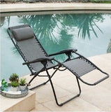 Reclining Lounge Chair Patio Pool Beach Yard Recliner Chaise Lounger Fast Drying - ShopMonkeez  - 3
