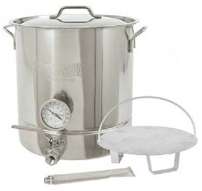 Wine Kit Beer Brewing Home Making Equipment 8 16 Gallon Stainless Steel Kettle - ShopMonkeez  - 1