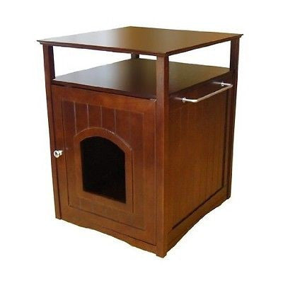 Cat Condo Dog Bed Litter Box Night Stand Decorative Bathroom Furniture Pet House - ShopMonkeez  - 1