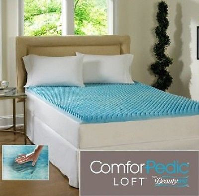 Mattress Topper Memory Foam Gel Pad Queen 3 Inch Rejuvenate Simmons Beautyrest - ShopMonkeez  - 1