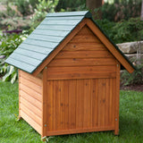 Wood Dog House Gabled Roof Shelter Puppy Hotel Kennel DIY Pet Project