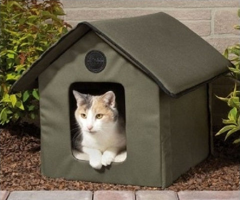 Outdoor Heated Cat Shelter Water Resistant - ShopMonkeez  - 1