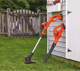 Cordless String Trimmer Edger Sweeper Blower Combo Lithium Ion Weed Grass Wacker