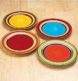 Festive Striped Dinnerware Set 16 Piece Serves 4 - ShopMonkeez  - 5