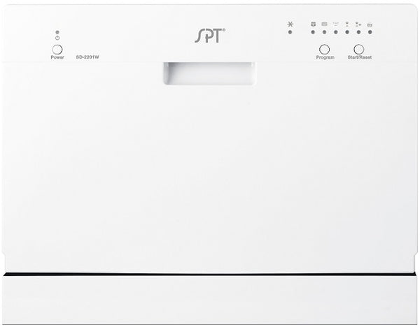 Dishwasher Countertop White Silver Compact Portable