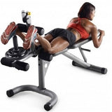 Olympic Workout Bench Adjustable Legs Arms Freeweights - ShopMonkeez  - 3