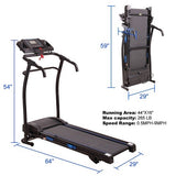 Treadmill Folding Electric Running Fitness Machine