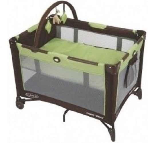 Playard Bassinet Playpen Baby Play Yard Portable Playpens Travel Foldable Graco Green New Free Shipping -   - 1