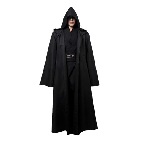 Jedi Cloak Halloween Hooded Robe Adult Men Cosplay Costume