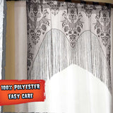 Gothic Valance Halloween Black Lace Party Curtain