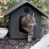 Outdoor Heated Cat Shelter Water Resistant - ShopMonkeez  - 2