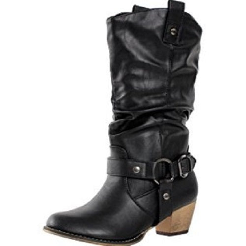 buy best release date: big selection of 2019 Boots Western Fashion Cowboy Style Cowgirl Women Slouch Faux Leather Tan  Womens Medium Width