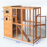Cat Run Outdoor Wooden Shelter Enclosure