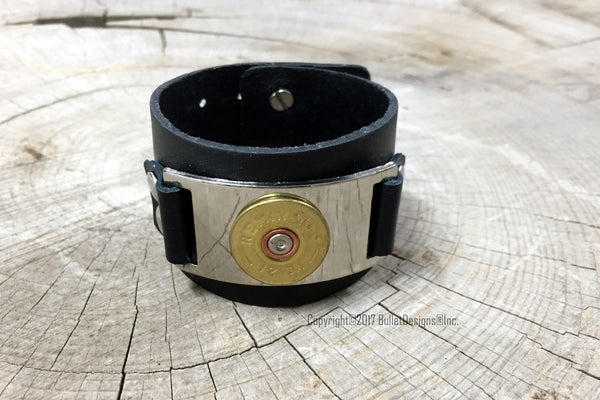 12 Gauge Shotgun Shell Leather Bracelet