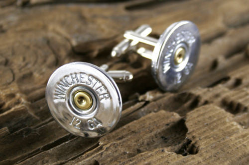 12 Gauge Shotgun Cufflinks