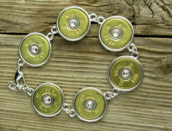 20 Gauge Brass Shotgun Shell Tennis Bracelet