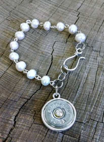 20 Gauge Nickel Pearl Shotgun Bracelet