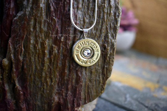 20 Gauge Remington Brass Bullet Necklace